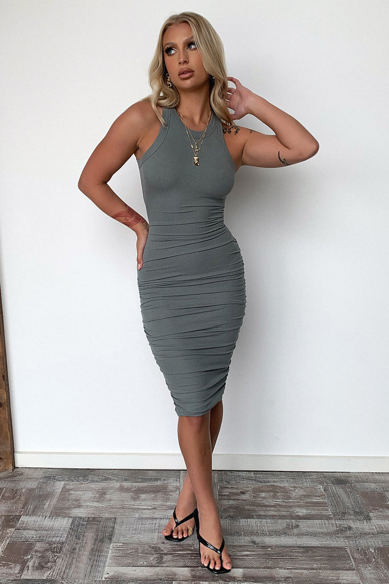 Rhianna Dress - Khaki