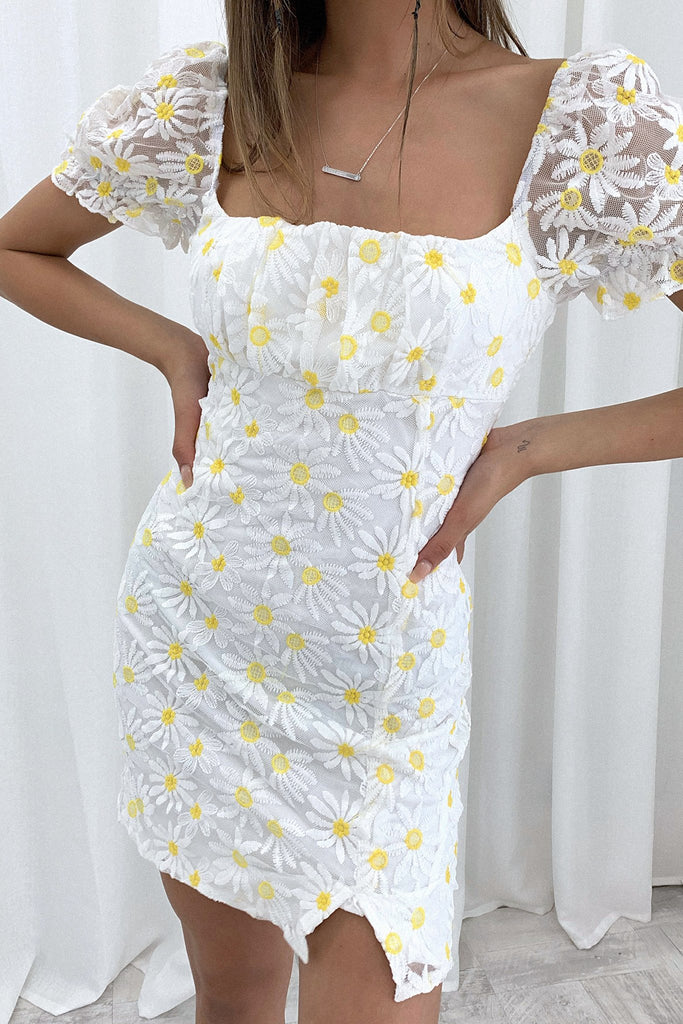 Rosy Dress - Yellow Floral