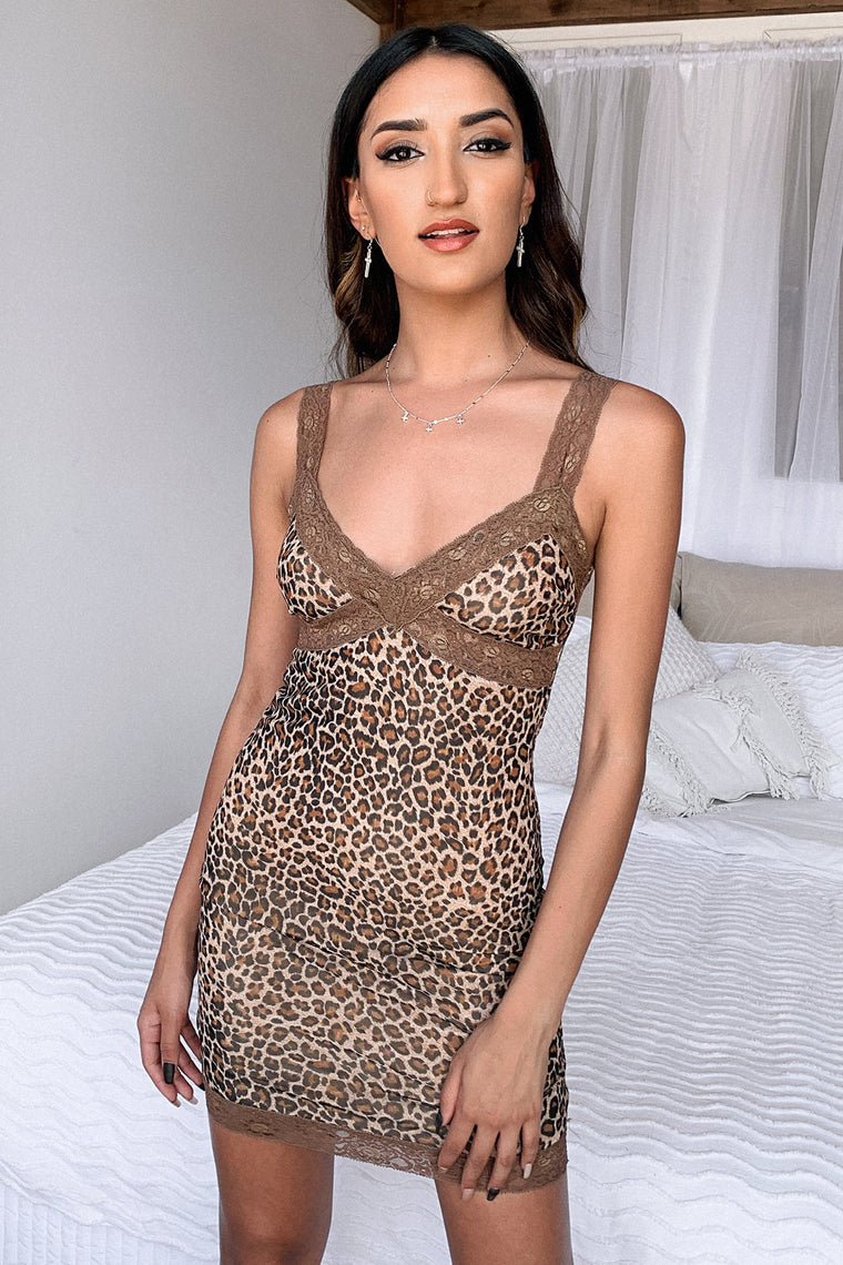 Sanu Dress - Brown Leopard