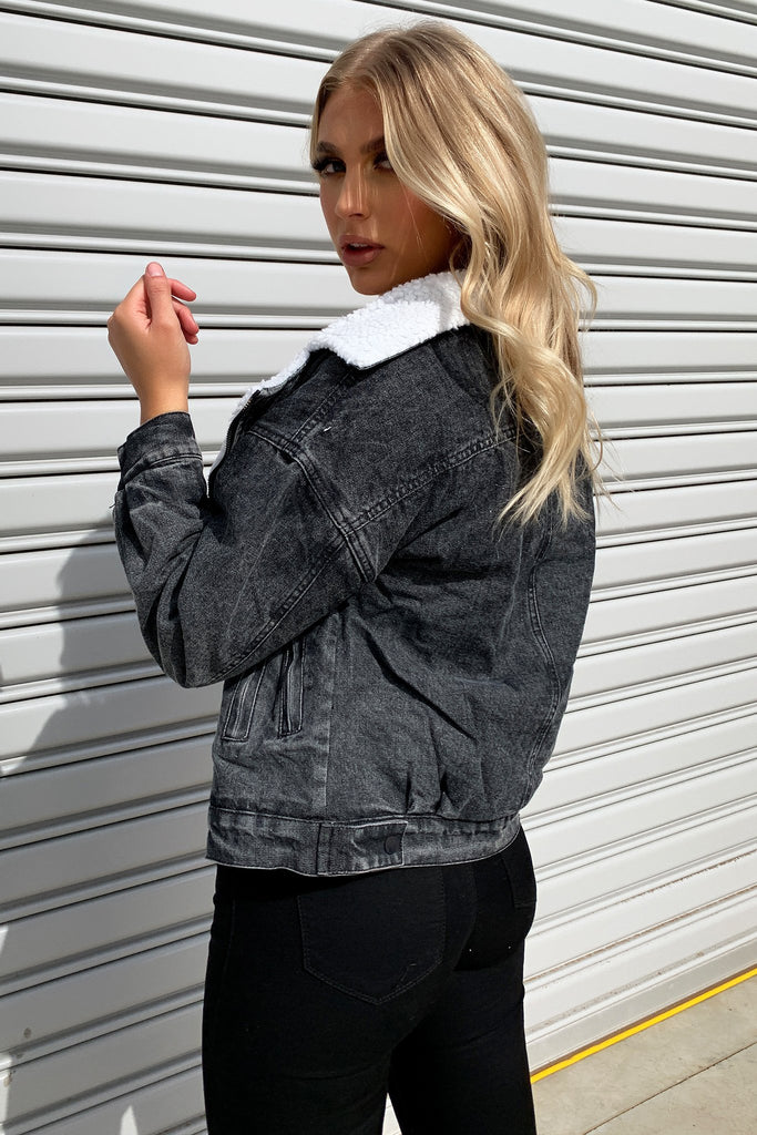 Clarke Denim Jacket - Black