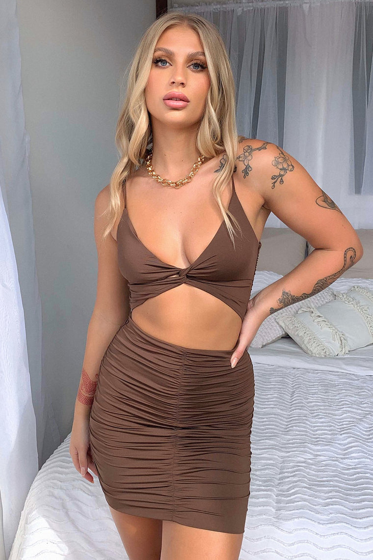 Tamara Dress - Brown