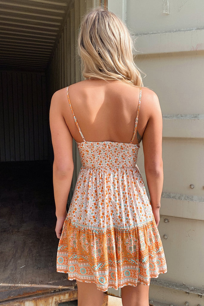 Auden Dress - Orange Floral