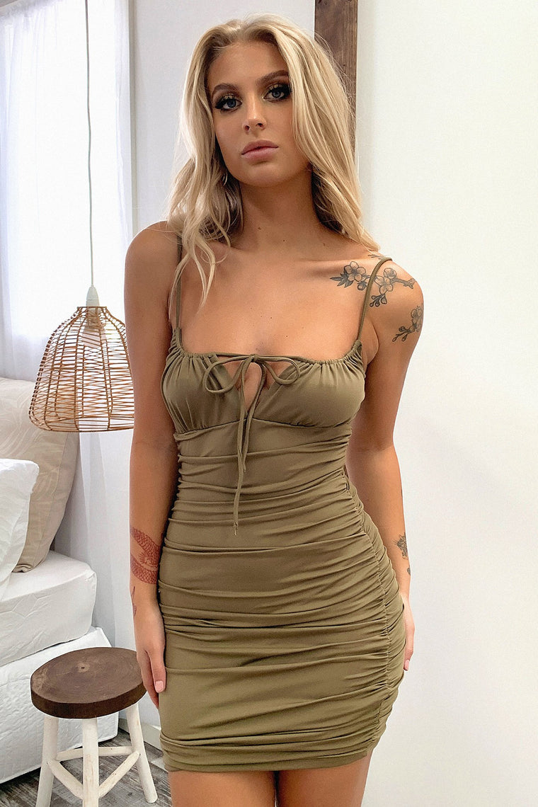 Warner Dress - Khaki