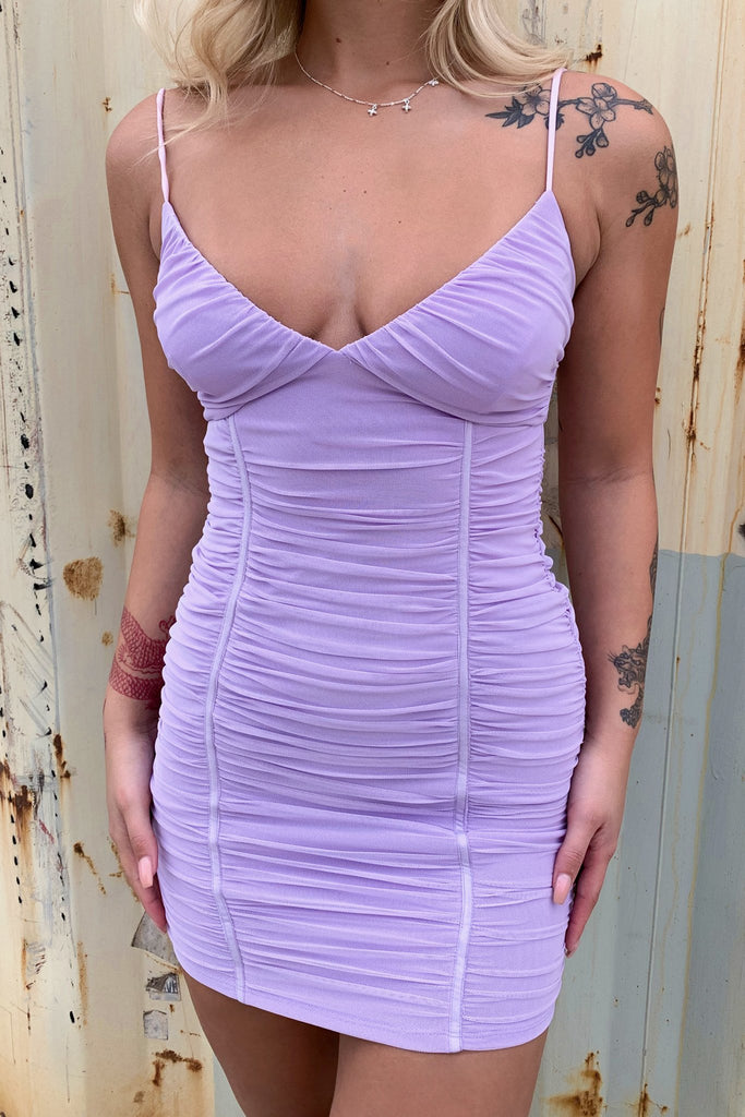 Dianelle Dress - Purple