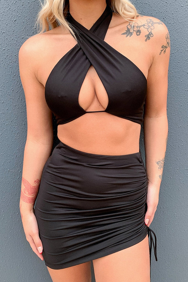 Xavier Crop - Black