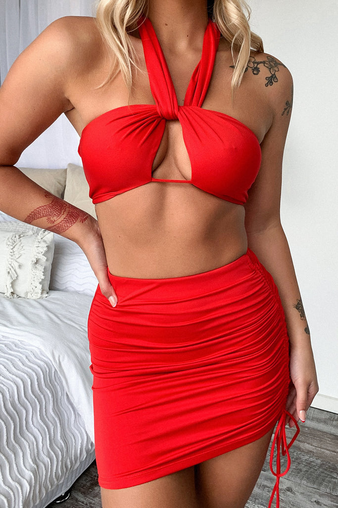 Xavier Crop - Red