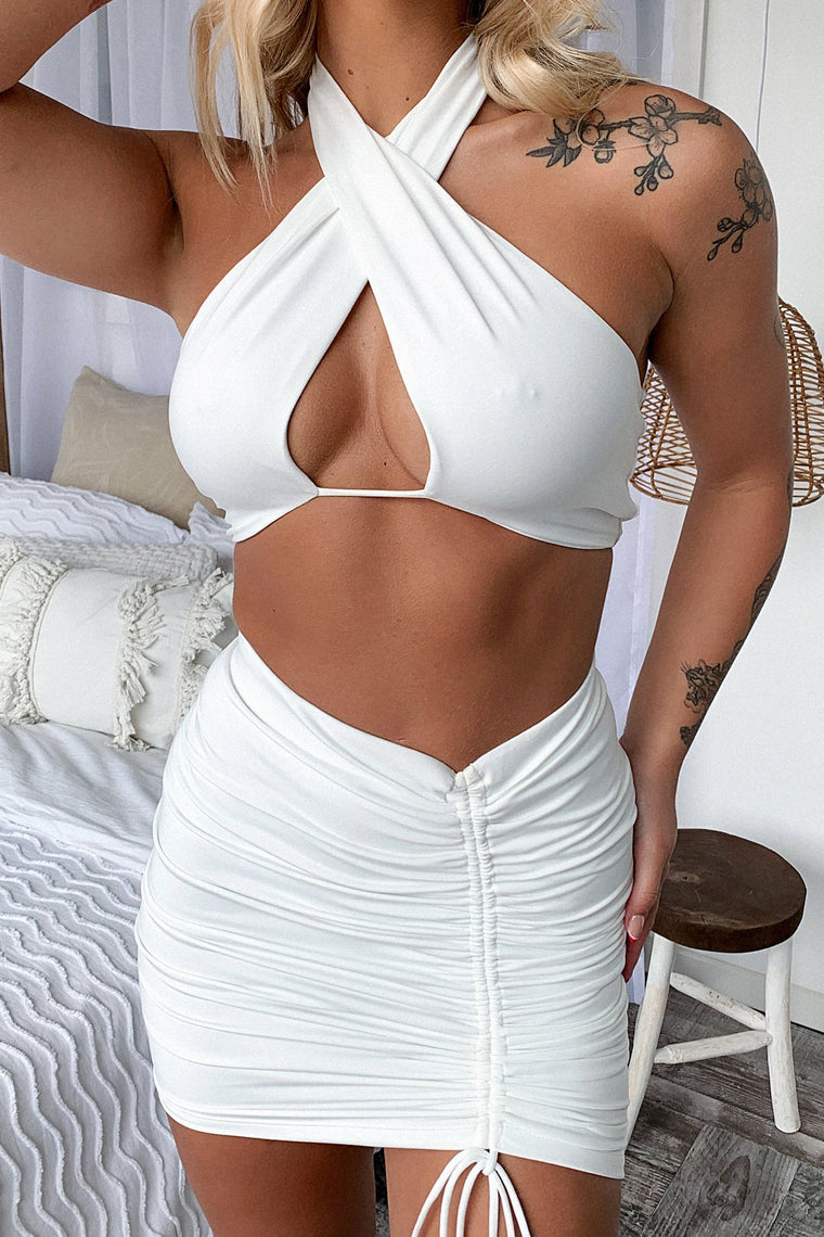 Xavier Crop - White