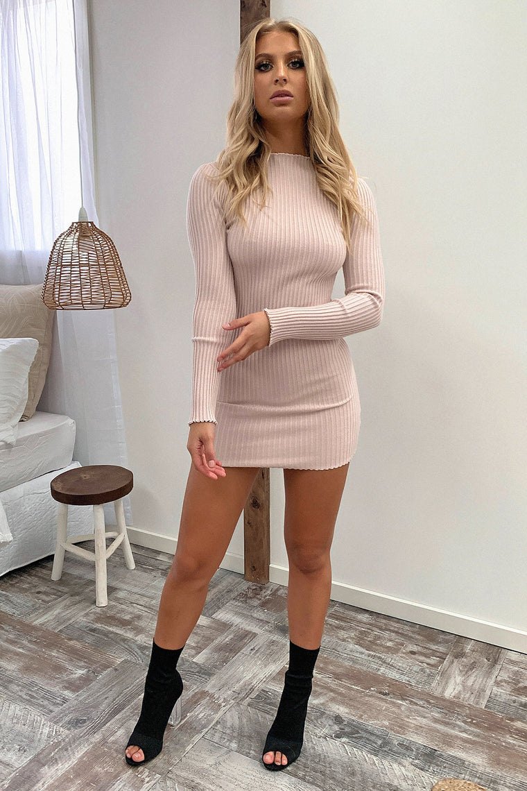 Reuben Knitted Dress - Blush