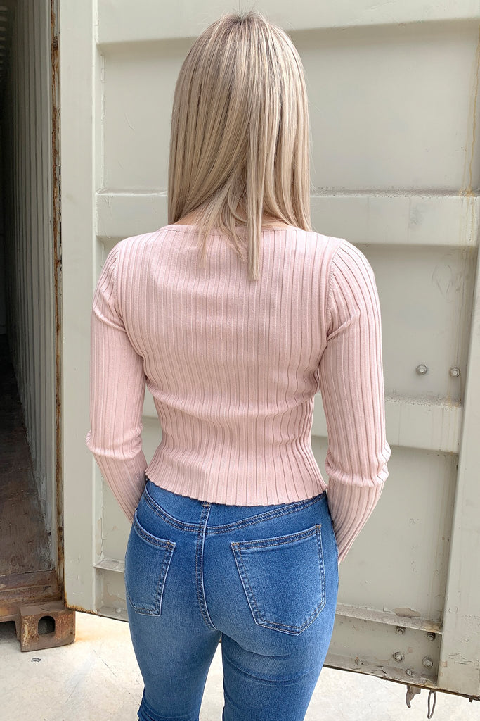 Kenny Long Sleeve Top - Dusty Pink
