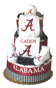 Alabama crimson tide baby gift diaper cake