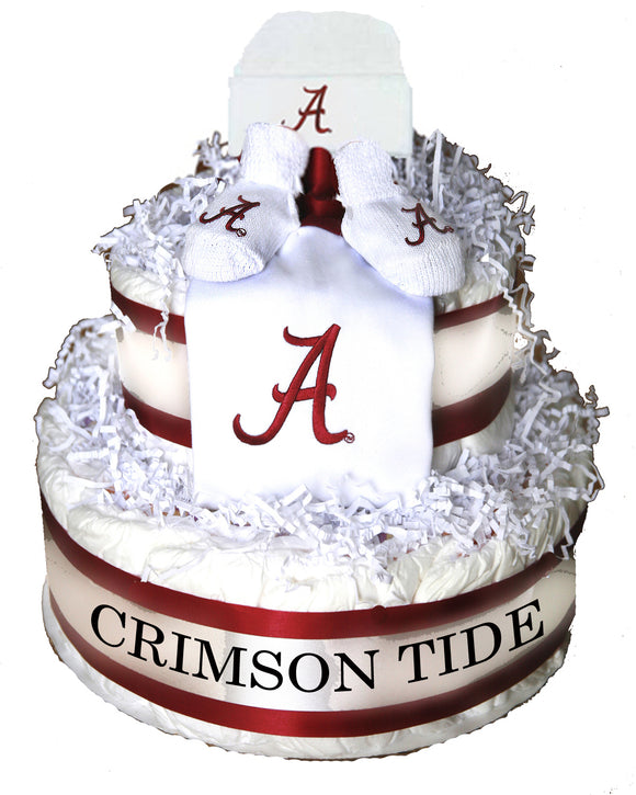 Alabama crimson tide diaper cake
