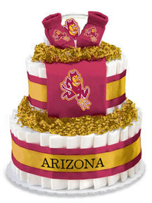 Arizona State Collegiate Diaper Cake