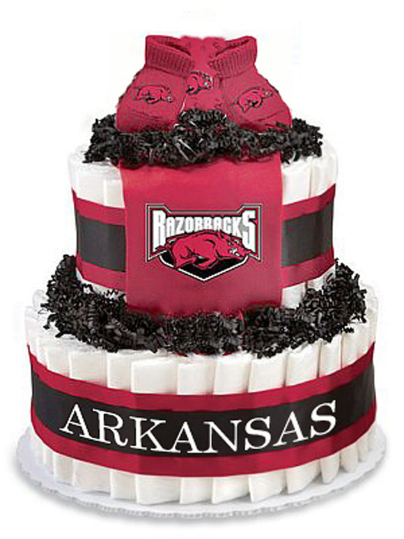 Arkansas razorbacks diaper cake
