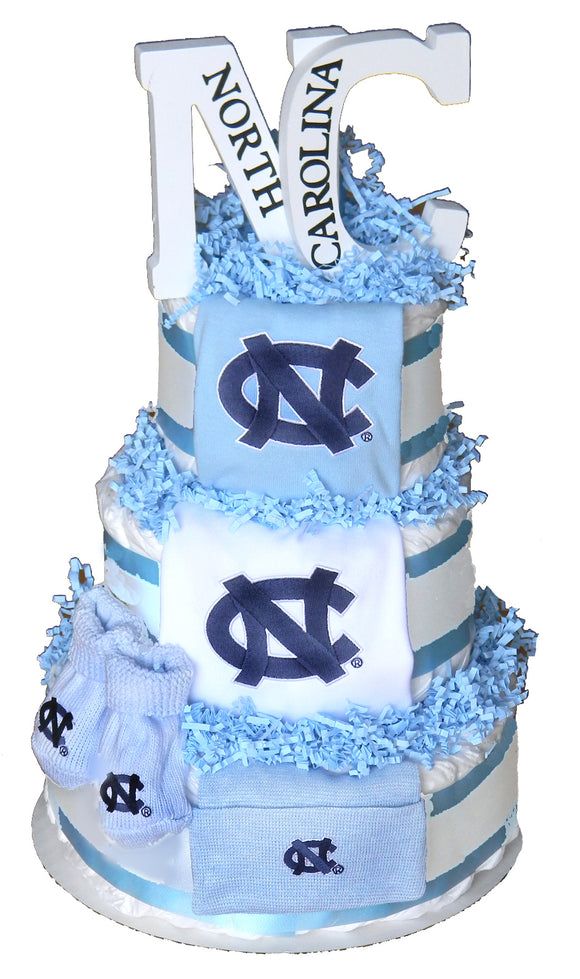 North Carolina Tarheels Diaper Cake (Deluxe)