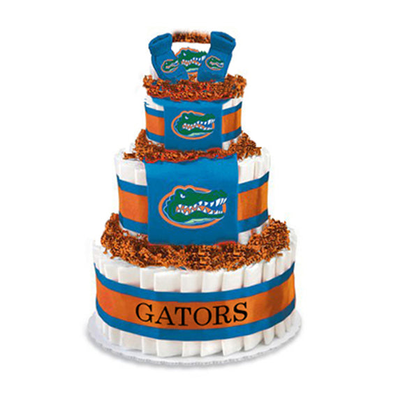 Florida Gators Diaper Cake (Deluxe)