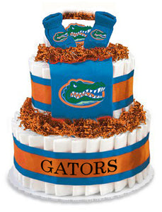 Florida gators diaper cake