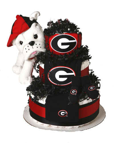 Georgia bulldogs diaper cake