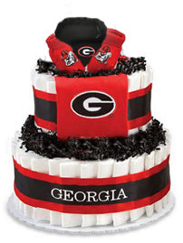 Georgia Collegiate Diaper Cake