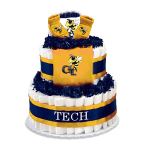 Georgia Tech diaper cake