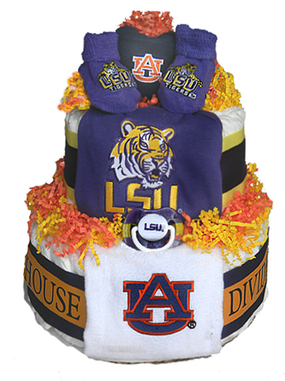 House Divided Diaper Cake