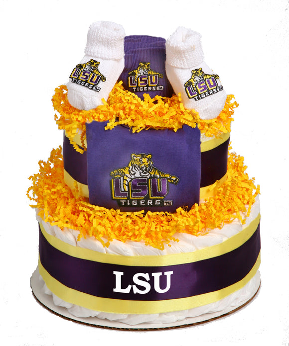 LSU Collegiate Diaper Cake