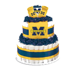Michigan wolverines diaper cake