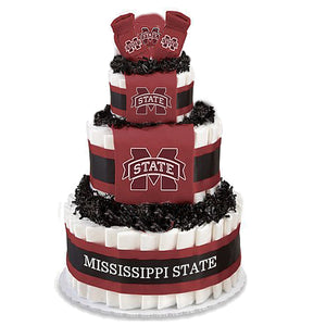 Mississippi State baby gift diaper cake