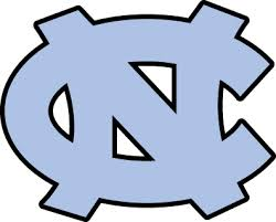 North Carolina Tarheels baby gift diaper cake