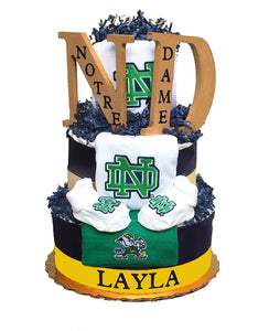 Notre Dame diaper cake baby gift