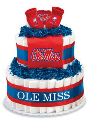Ole Miss baby gift diaper cake