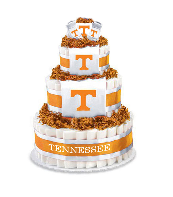 Tennessee volunteers baby gift diaper cake