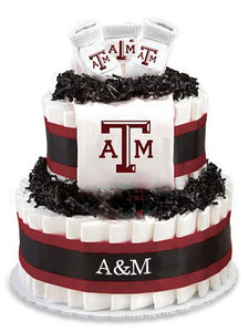 Texas A&M Collegiate Diaper Cake