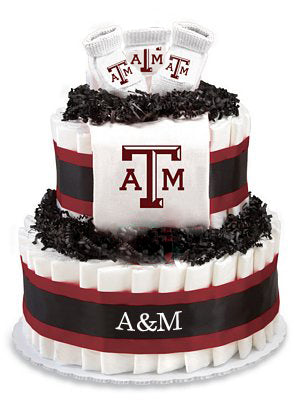 Texas A&M diaper cake