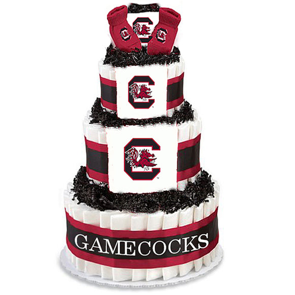South Carolina gamecocks baby gift diaper cake