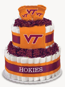 Virginia Tech diaper cake