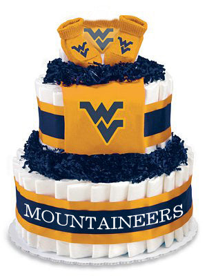 West Virginia mountaineers diaper cake