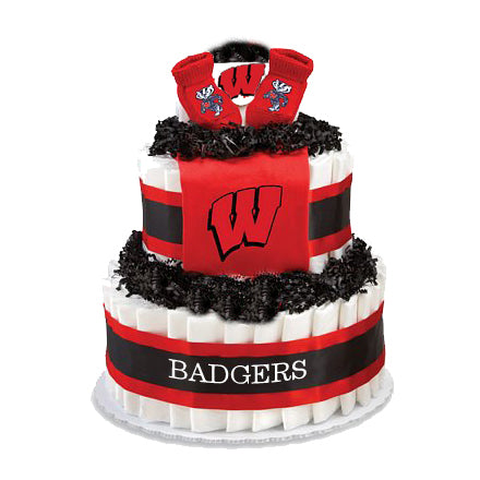 Wisconsin badgers diaper cake