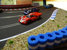 Load image into Gallery viewer, RAS Tire Wall - Tyre Wall - Tire Stack - XL - BLUE-WHITE - 99 cm for racetracks 1/32 - 1/24 scale - NEW