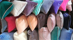 Velvet Cushions, Wall of Colour