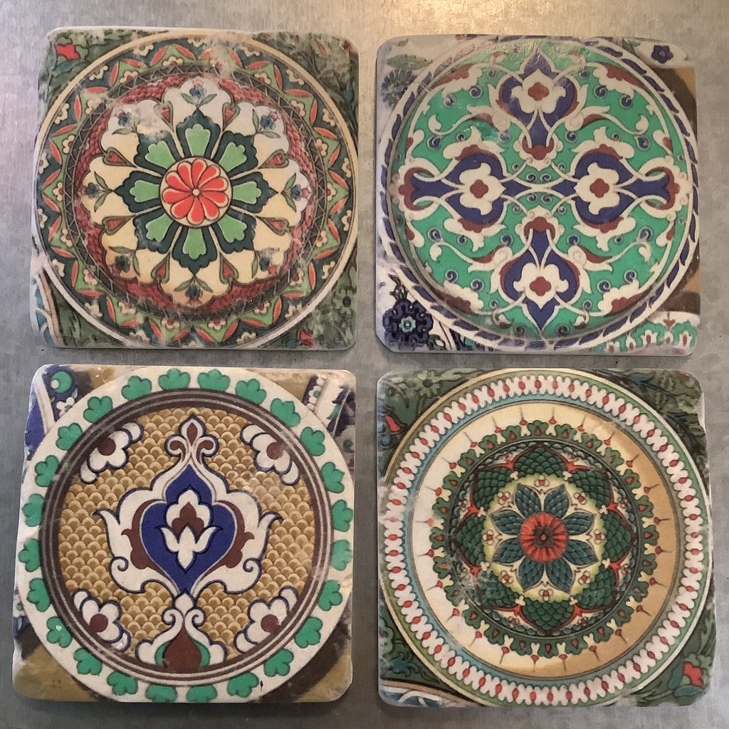 Drinks Coasters Set of 4 (Eastern Tile effect)
