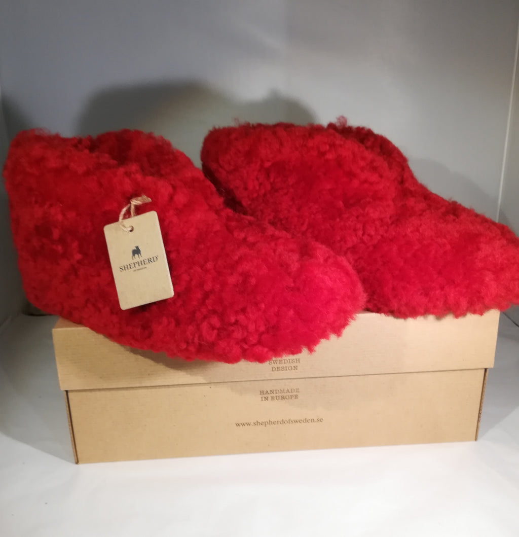 Slippers: 'Ulla' Red