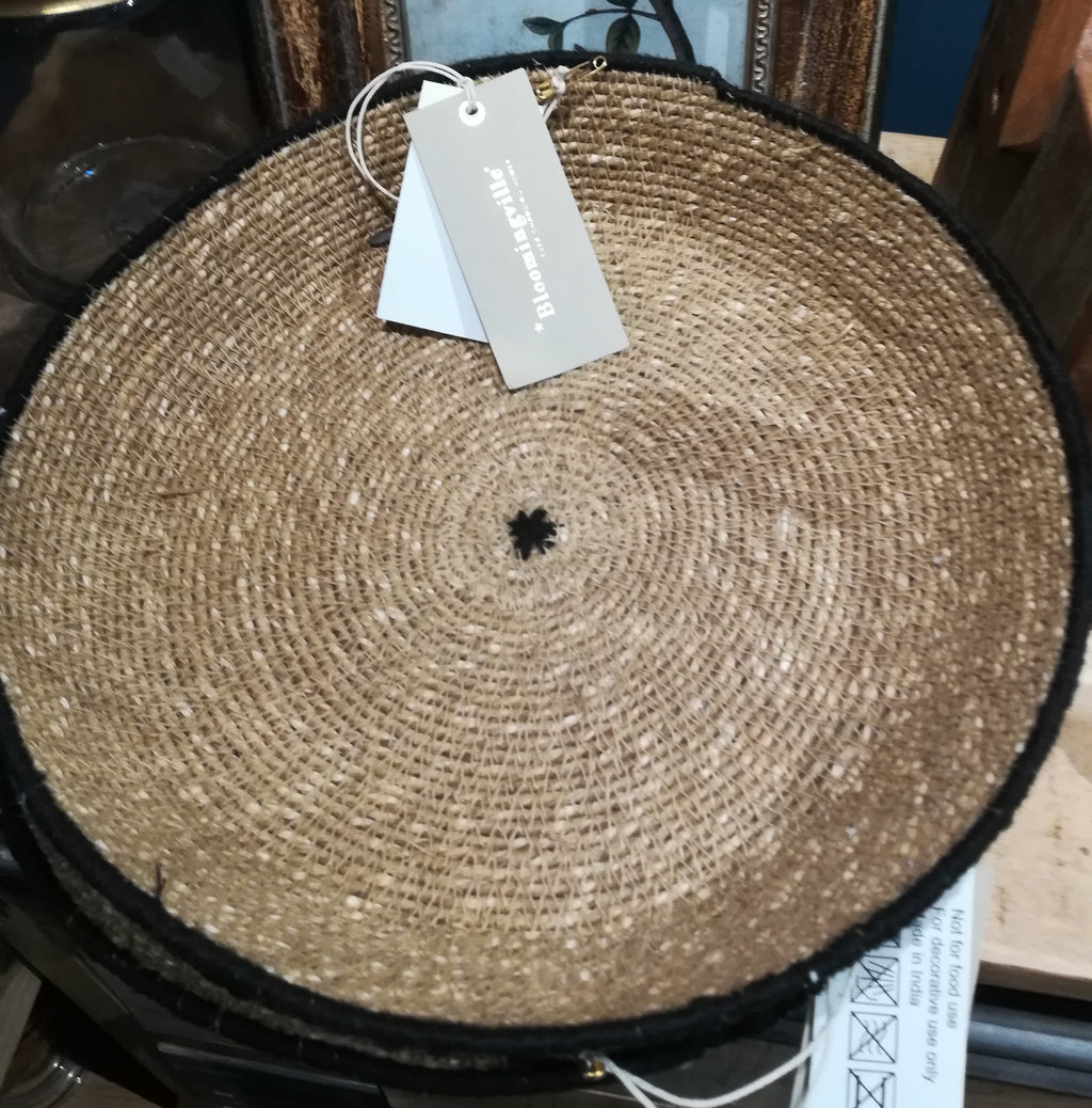 Wicker tray, round