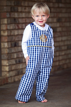 Navy Check Longall