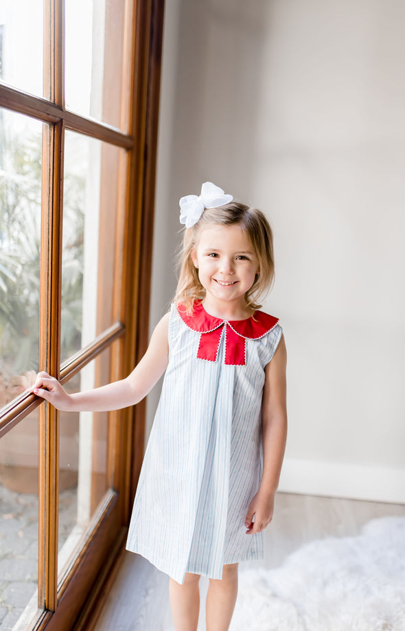 Babbette Blue Stripe Dress