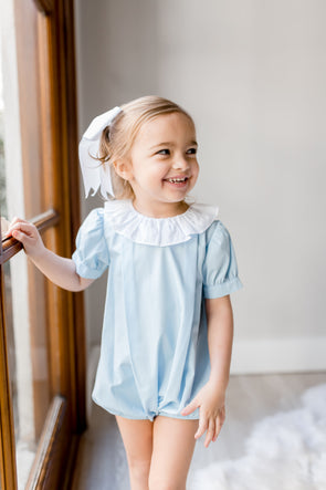 Beatrice Blue Ruffle Collar Bubble
