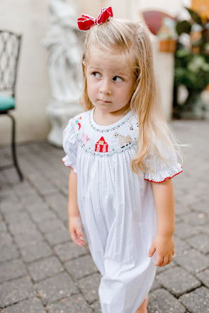Barnyard Friends Smocked Bishop Bubble