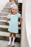 Bonnie Bow Mint Cord Dress