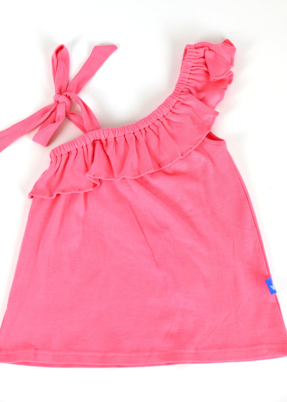 Polly Play Pink Ruffle Girls Shirt