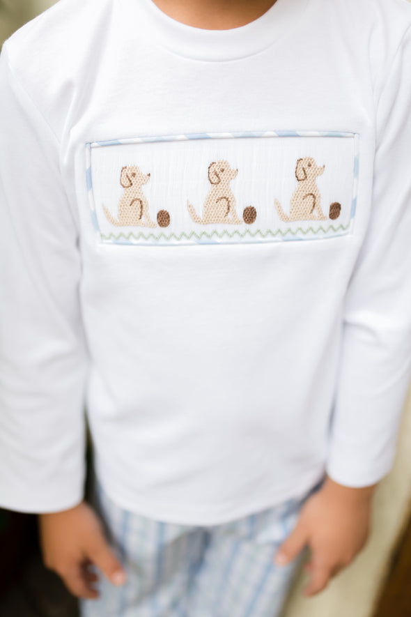 Pup Smocked Boy Set