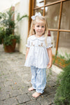 Pup Smocked Girl Set